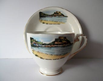 Vintage Bone china Teacup and saucer by Royal Grafton made in England. Souvenir Teacup and Saucer.