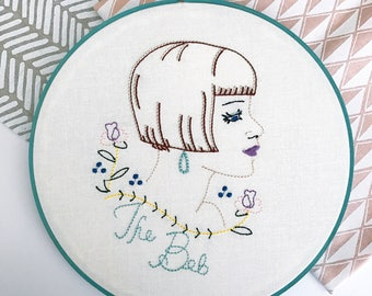 The Bob | Retro Art | Home Decor | Hairdresser Gift | Salon Decor | Vintage Inspired | Gift for Her | Cloth and Twig