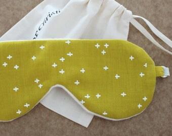 Organic cotton white stars sleep mask for man woman and kid  Unisex clothing Organic Underwear Friends gift Girlfriend gift Kid sleep mask