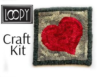 Rug Hooking Kit, DIY Craft Kit, Beginner Rug Hooking Kit, Primitive Rug  Hooking