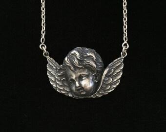 antique french cherubin necklace