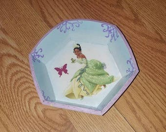 Princess Tiana Wooden Jewelry Tray Princess and the Frog Room Decor