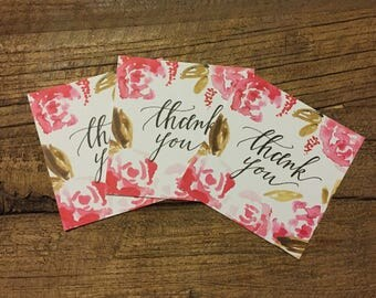 Thanks you tags - set of 10