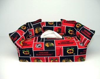 Chicago Blackhawks Licensed fabric tissue box cover.