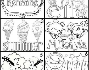 Kids Color-On Pillowcases | Personalized!  29 Designs!