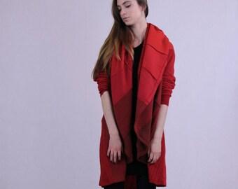 Oversized Upcycled Coat Wool Hooded Spring Coolawoola Coat Perfect Circle Stylish Coat Free Shipping to US