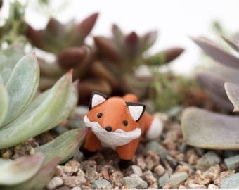 Fox Figurine | Fox Miniature | Fox Terrarium Decor | Plant Decor | Plant Accessories | Garden Decor | Terrarium Kit