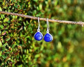 Blue Lapis Earring Lapis Lazuli Earring Lapis Jewelry Silver Lapis Earrings Sterling Silver Lapis Gemstone Drop Earring Lapis Dangle Earring