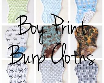 Boy Print Burp Cloth