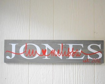 Established Sign, Wedding Sign, Valentine's Sign, Housewarming Sign