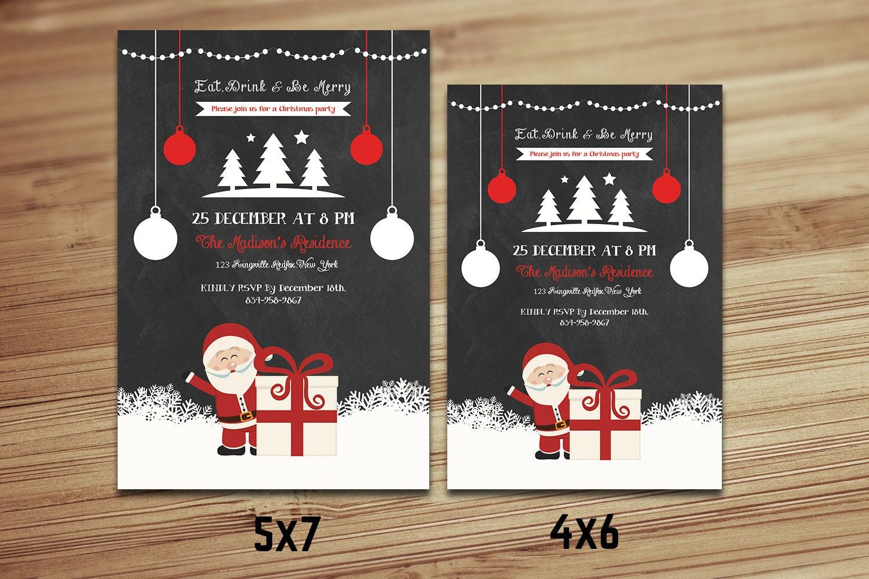 weihnachten einladungen vorlage tafel christmas party flyer. Black Bedroom Furniture Sets. Home Design Ideas