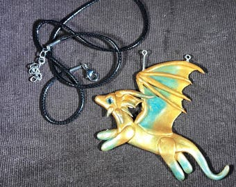 Polymer Clay Dragon Pendant