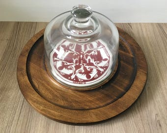 Vintage Cheese Plate - 1981