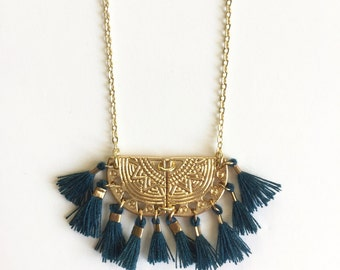 ALMA NECKLACE - blue duck