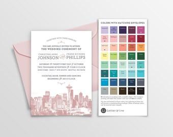 Sample: Seattle City Skyline Invitation