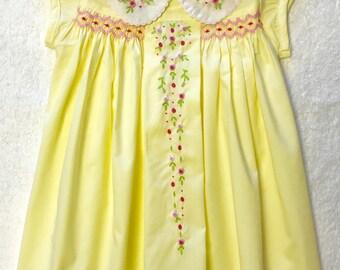 Yellow Smocked Dresses