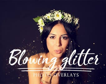 55 pack Blowing Glitter Photoshop Overlays, Confetti Photoshop overlays, photoshop overlay, glitter overlay, glitter photoshop