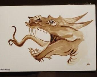 Dragon coffee painting