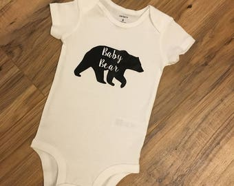Baby Bear Silhouette Infant Bodysuit