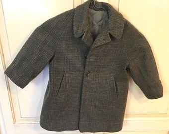 Vintage  Small Boys  Coat and Hat  Wool  1960's