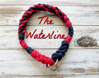 WATERLINE design Rope Collection - Dog Collar, Slip Collar, Training Collar, Snap hook Collar