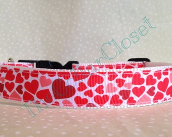 Love Heart Valentines Day Dog Collar