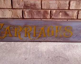 "Antique Wood ""Carriages, Built & Repaired"" sign! Free-handed! Vintage signs. Victorian. Primitive. Trade signs. Colonial. Early American."