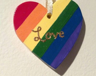 Rainbow Love Ornament