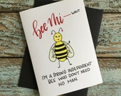 Independent Valentines Day Card // anti Valentine's Day // love // feminist