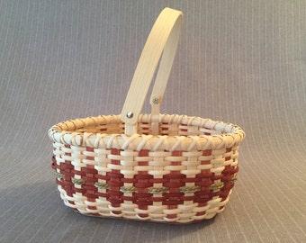 Handmade Basket with Swing handle