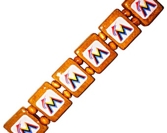 Miami Marlins bracelet. Miami Marlins wristband.