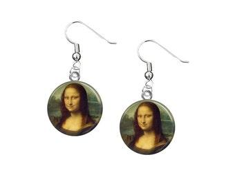 Mona Lisa Earrings, 12 Dangle Earrings, Mona Lisa Jewelry, Fine Art, Leonardo da Vinci