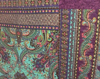 Purple Paisley Twin Quilt - ON SALE!