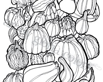 Fall Pumpkins Note Card with Envelope *Digital Download*