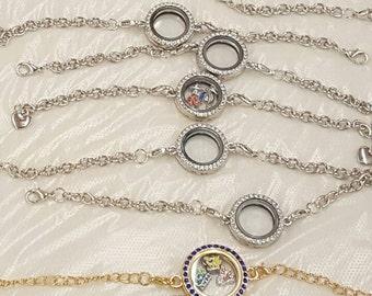 Silver Charm Locket + 4 charms