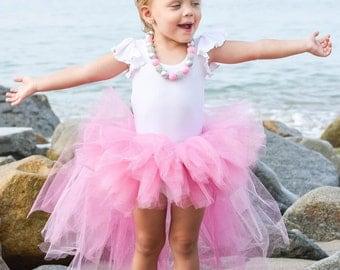 Pink High Low Glitter Tutu
