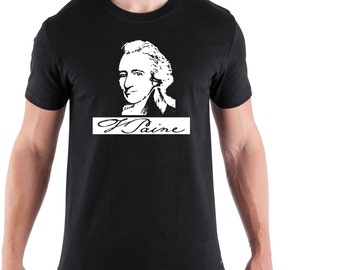 Paine  tshirt  black white , protect your country from its government