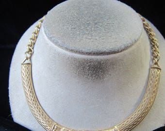 Vintage 1977 Signed MMA-Museum Of Modern Art Egyptian Replica Collar Necklace-Free Domestic Shipping On This Necklace