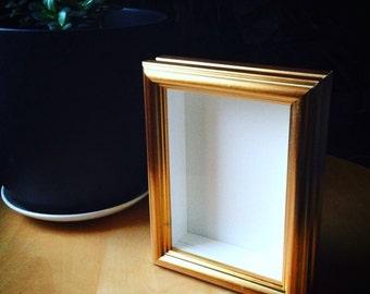 Deep Gold Box Frame 12.7x17.8cm