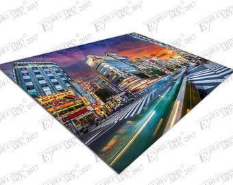 Print on Canvas city street lights in the city of Tokyo Japan X1655