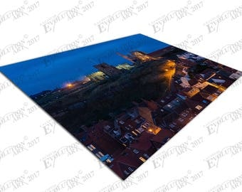 Print on Canvas 199 Steps to Whitby churches at night X1681