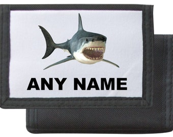 Personalised Shark Wallet Available In Black/Pink/Blue/Red