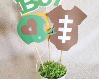 Baby Shower Centerpiece,itu0027s A Boy Centerpiece,football Centerpiece, Football  Baby Shower,