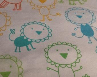 "Colorful Lion Children's Fabric Remnant, 32"" x 58"""
