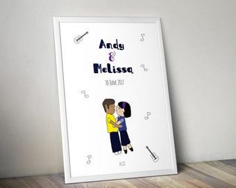 Custom Couple Illustration DIGITAL