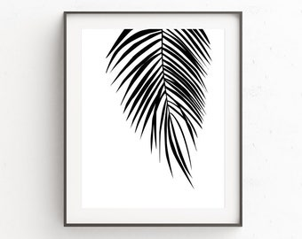 Palm Leaf Wall Decor | Modern Palm Tree | Tropical Leaf Print