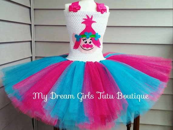 Dreamworks Trolls Poppy Crochet and Tulle Tutu