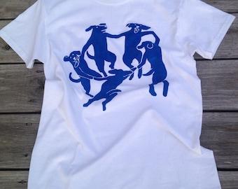 "MATISSE ""La Danse"" shirt with DOGS!"
