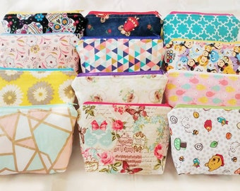 Cosmetic bag | Travel Size bag | Zipper Pouch | Makeup bag