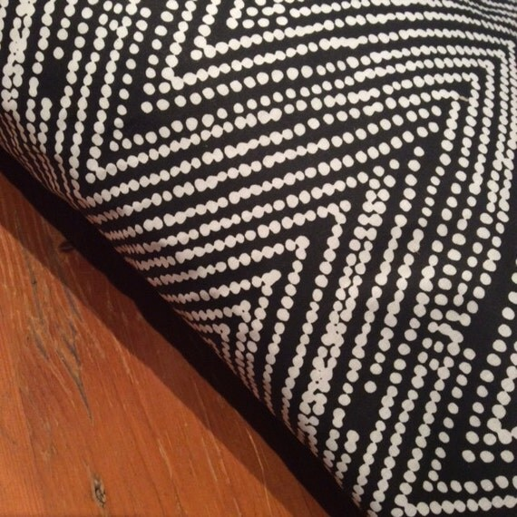 White and Black Indigenous Art Print Cushion Cover, Various Sizes, Cotton, Quality Hand Made